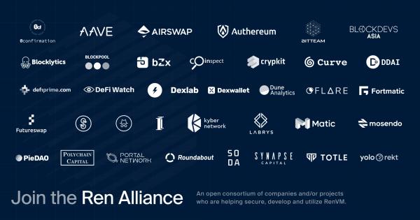 50 members join the Ren DeFi alliance